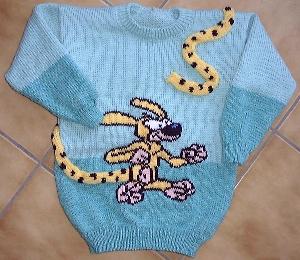 pull tricot jacquard